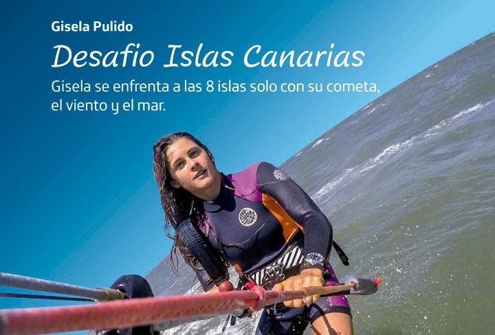 La campeona de kitesurf Gisela Pulido llega a Fuerteventura